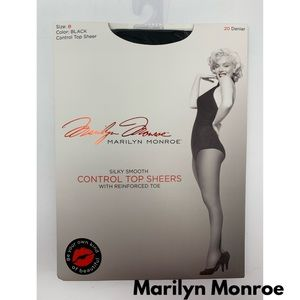 Marilyn Monroe Control Top Sheers Black Pantyhose